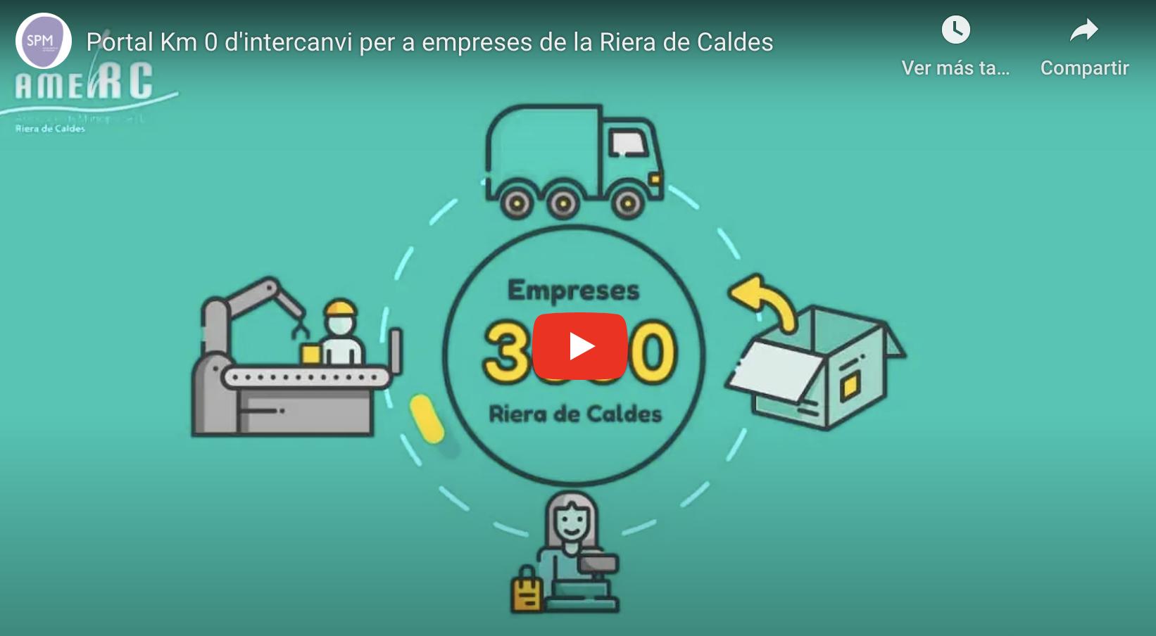 Video Portal Km 0 d'intercanvi per empreses Riera de Caldes